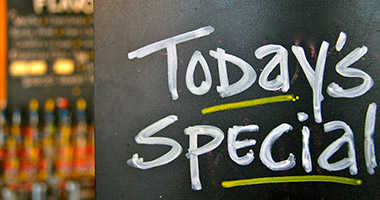 Check out our current specials